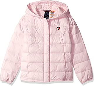 Girls' Adaptive Puffer Jacket with Magnetic Buttons, ballerina-print S