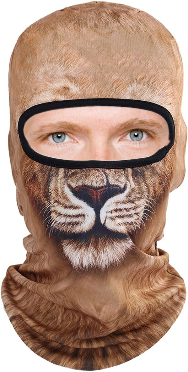 3D Animal Balaclava Face Mask Breathable Ear Outdoor Sports Motorcycle Cycling Snowboard Hunting Ski Cat Dog Halloween Party