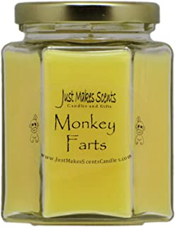 Just Makes Scents Monkey Farts Scented Blended Soy Candle (8 oz)