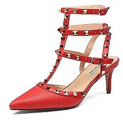 249d1b5604048 Stiletto Rivet ankle strap - Casual Women's Shoes