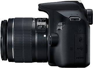 Canon EOS 2000D - Cámara réflex de 24.1 MP (CMOS, Escena inteligente automática, 9 puntos AF, filtros creativos, EOS Movie...