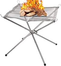 Finderomend Portable Fire Pit for Camping Outdoor Bonfire Pit 16.5 Inch Camping Fire Place Stand with Stainless Steel, for...