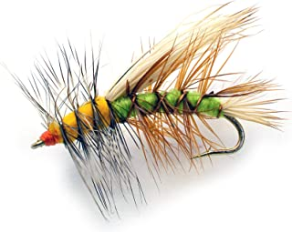 Stimulator Dry Fly Fishing Flies   12 Flies   Hook Sizes 10, 12, 14 & Asst - Green & Yellow Terrestrial Pattern - Trout Flies