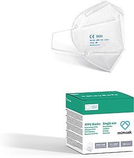 MiMask FFP2 wegwerpmasker (20 stuks), EU-norm EN149: 2001 + A1: 2009, gemaakt in Europa