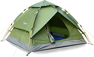 Sportneer Camping Tent 2-3 Person Hydraulic Automatic Instant Pop Up Tent Waterproof Outdoor Camping Hiking Hunting Adventure Travel Beach Tents for Family Groups,Quick and Easy Setup & Take Down
