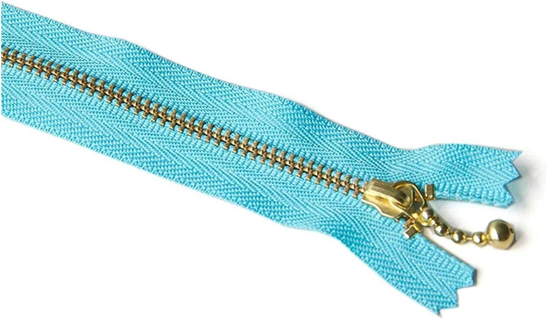Lieber Lighting Decorative Zipper Gold Teeth Metal Zipper Closed