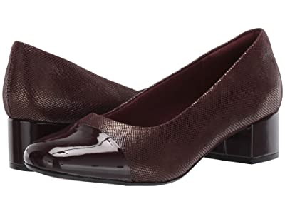 Clarks Chartli Diva (Burgundy Interest Suede) Women