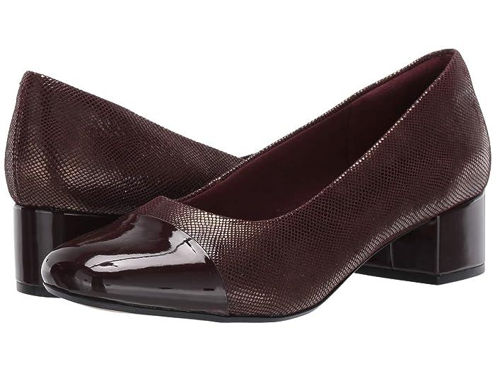 Clarks  Chartli Diva (Burgundy Interest Suede) Womens  Shoes