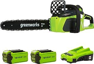 Greenworks Tools Cordless Chainsaw GD40CS40K2x (Li-Ion 40V 11 m/s Chain Speed 40 cm Blade Length 180 ml Oil Tank Volume Po...