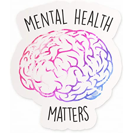 pack of 3 or 5 stickers Mental health matters stickers