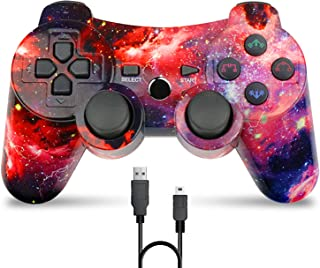 Bowei PS3 Controller Wireless,Double Shock Gamepad for Playstation 3 Remotes,6 axis Joystick Wireless PS3 Controller with ...
