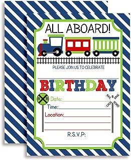 Train Birthday Party Invitations for Boys, 20 5