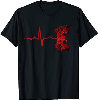 Gamer Heartbeat Video Games E-Sports Fan Gift Boys Teens Men T-Shirt