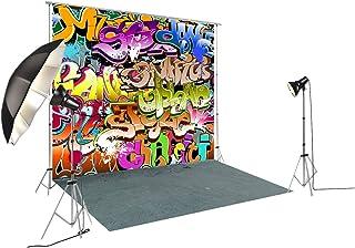 Graffiti Kulisse im Retro Stil zum 80. 90. Geburtstag, Hip Hop Party Banner für Fotostudio, Fotografie, FD 7975