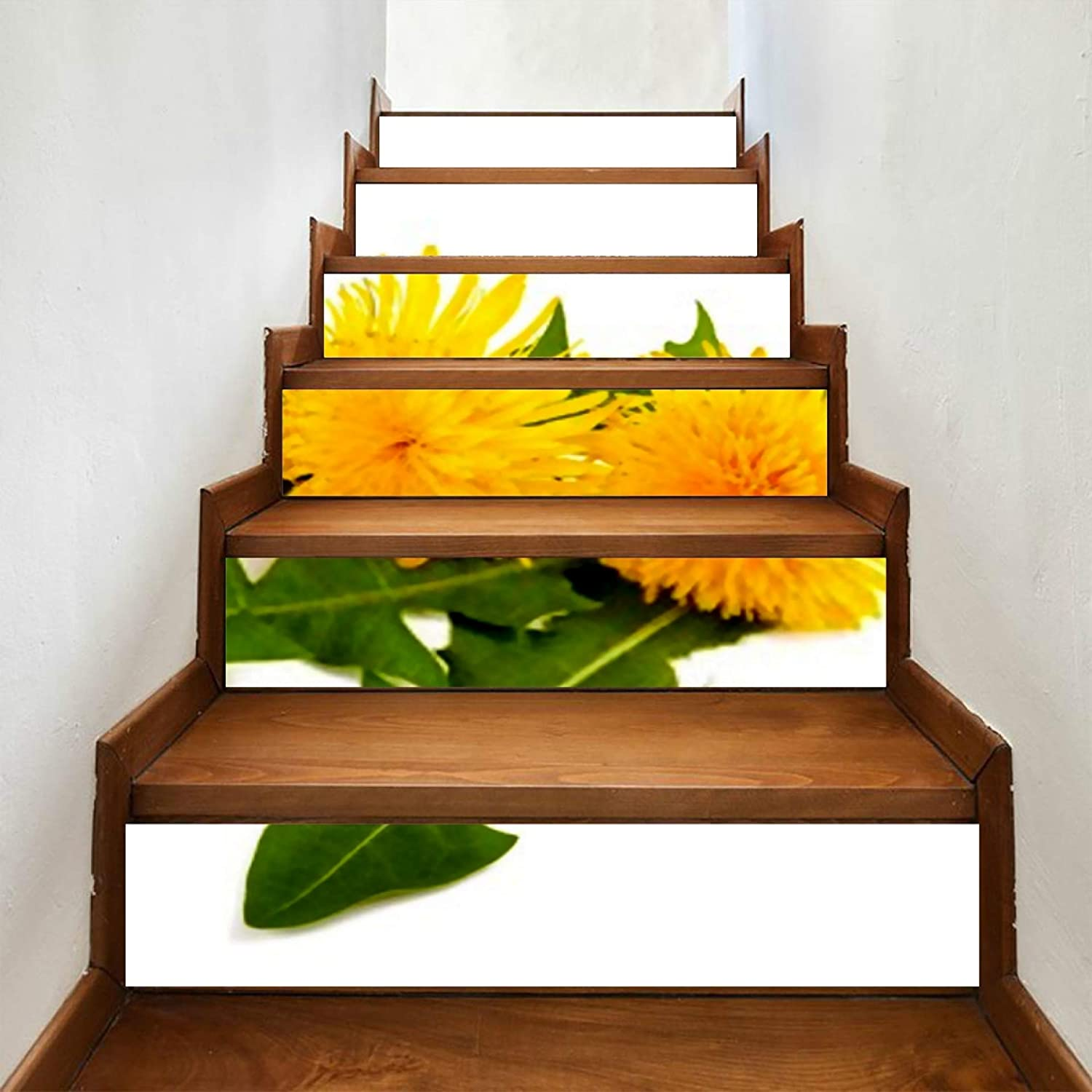 ALALAL 6 Pcs Modern Art Isolated Stickers Stair Flower Dandelion Recommended Ranking TOP4