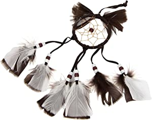 Sumex Small Hanging Car Mirror and Home Dream Catcher Air Freshener  Brown