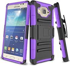 Samsung Galaxy On5 Case, On 5 Case, TILL [Knight Armor] Heavy Duty Rugged Holster Resilient Armor [Belt Swivel Clip][Kickstand] Combo Case Cover Shell for Samsung Galaxy On5 G550 [Purple]