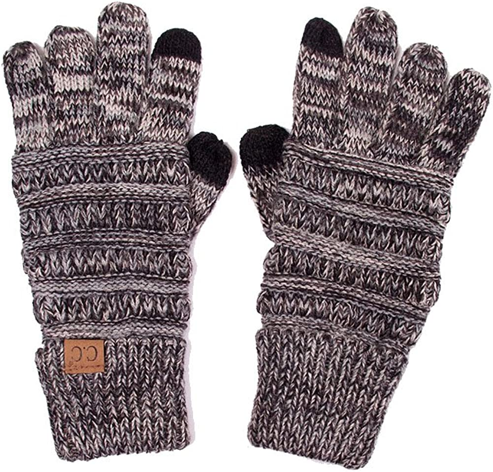 ScarvesMe C.C Touch Screen Smart Two Tone Soft and Warm Knit Gloves