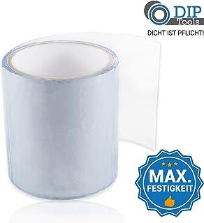 DIP-Tools Aquatape - Cinta Adhesiva para Fugas de Agua Innovadora e Impermeable - Reparaciones Sencillas en Piscinas, Casas, Canalones y muchas otras áreas Interiores y Exteriores (1, Transparente)