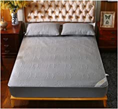 """Queen Mattress Protector Waterproof Quilted Fitted Mattress Pad Cover with Breathable Cotton Inner Core 16"""" Deep Pocket Pr..."""