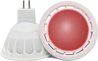 VARICART GU5.3 12V LED COB Bombilla Color Rojo, 6W MR16 60° Ángulo Haz, 50W Halógeno Equiv. 500lm, Luz Especial Ambiental Decorativa Iluminación Fiesta (Pack de 4)