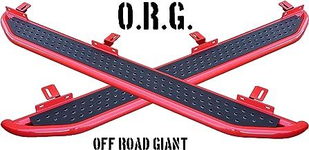 OffRoadGiant 2018-2019 Jeep Wrangler JL 4-Door Unlimited JLU   Side Steps   Nerf Bars   Running Boards   Made in USA!   Red/Black (Red/Black)