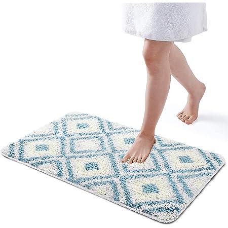 Alfombra de baño, Alfombra Absorbente Antideslizante, alfombra baño antideslizante, Alfombra de baño de Microfibra esponjosa,Alfombras de Ducha de Agua (50x80x2cm)