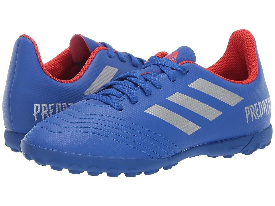 adidas Kids Predator 19.4 TF Soccer (Little Kid/Big Kid) (Blue/Silver/Active Red) Kids Shoes