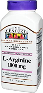 21st Century L-Arginine 1000mg, Maximum Strength 100 tablets