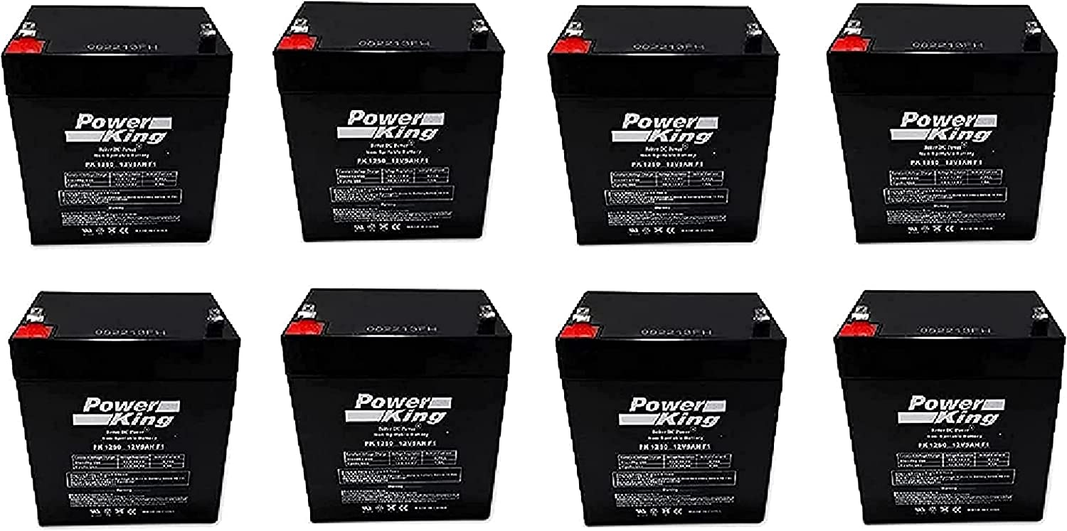 Compatible Beiter DC Power RBC43 Includes Professional Grade, Rechargeable (8) 12V 5ah F2 (.250) (F2 Adapters Included) Replacement Batteries Must Use Existing Cartridge