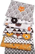 DIY 8pcs / lot, jungle dieren serie, bedrukte twill katoenen stof, patchwork doek, DIY naaien quilten materiaal voor baby ...