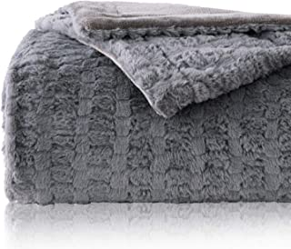 Bedsure Faux Fur Reversible Fleece Blanket – Super Soft Fuzzy Lightweight Blanket for Couch Chair Sofa and Bed(Twin 60 x 80 inches, Grey)