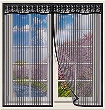 Magnetische Vliegengordijn,80x100cm klamboe Hordeur,Raamhor met magneet,gaasvliegengordijn klamboe voor raam en hordeur, a...