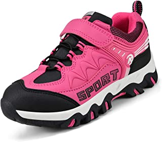 Kostiko Kids Hiking Shoes Non Slip Waterproof Walking Running Sneakers for Girls (Toddler/Little Kid/Big Kid)