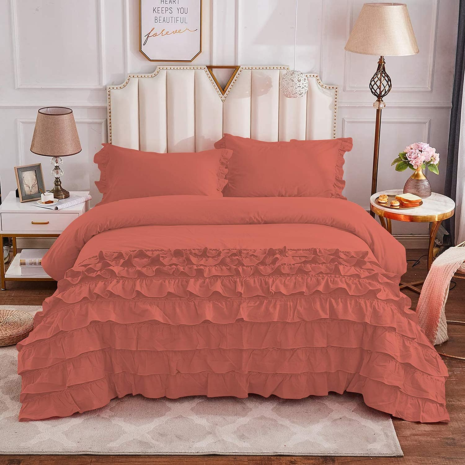 Luxury Linens Full Queen Size Girls Ruffled Cut Max Today's only 83% OFF Vintage Bedding
