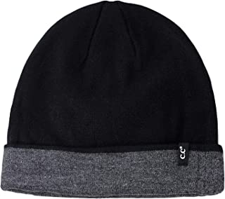 1b54deb5 C.C Men's Plain Winter Knit Two Way Cuff and Slouch Reversible Skull Cap  Beanie