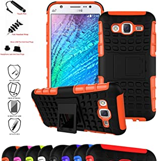 Mama Mouth Shockproof Heavy Duty Combo Hybrid Rugged Dual Layer Grip Cover with Kickstand for Samsung Galaxy J5 J500 2015....