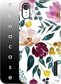 iPhone XR Case for Girls, Vintage Floral Case, Akna Sili-Tastic Series High Impact Silicon Cover (Graphic 102031-U.S)