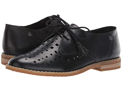 Hush Puppies Chardon Perf Oxford (Black Leather) Women