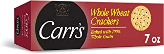 Carr's, Whole Wheat Crackers, Non-GMO Project Verified, Baked with 100% Whole Grain, 7oz Box(Pack of 6)