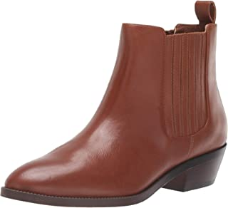 Lauren Ralph Lauren Women's Ericka Ankle Boot, Deep Saddle Tan, 7 B US