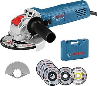 Bosch Professional GWX 750-125 Amoladora Angular, Ø, Incl. Juego de Discos de Corte y de amolado de 5 Piezas, Cubierta Protectora 125 mm, en maletín, Amazon Edición, 750 W, Azul