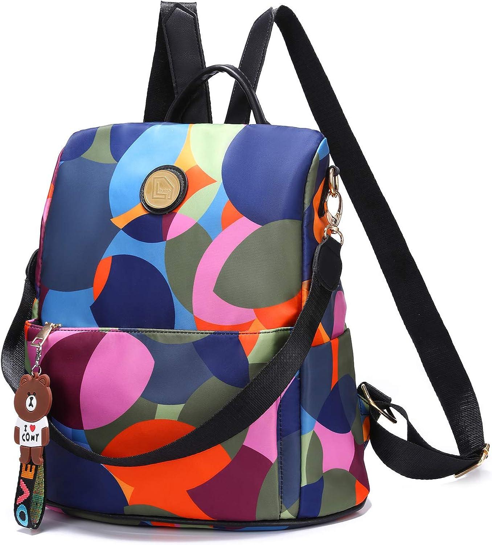 Cute Seamless Pattern with Pizza Women Backpack Purse Waterproof Anti-Theft Rucksack Lightweight Shoulder Bag