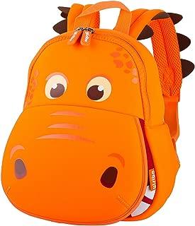 Dinosaur Backpack Hippo Kids Toddler Child Cute Zoo Waterproof 3D Cartoon Sidesick Bag for Pre School Pre Kindergarten Toddler 2-7 Years