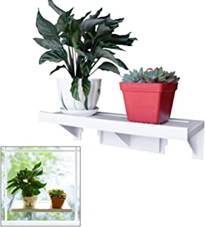 Easy Eco Life Large Powerful Window Sill Shelf Rack for Plants Herb Pots 15.4 5.4 Up to Hold 22 lbs Reusable Removable With No Residue Damage Free Installation