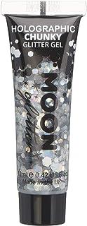 Gel Brillante grueso Holográfico para la Cara y el Cuerpo por Moon Glitter - 12ml - Plateado - Pintura Facial Brillante
