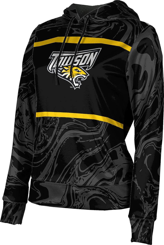 ProSphere Towson University Girls' Pullover Hoodie, School Spirit Sweatshirt (Ripple)