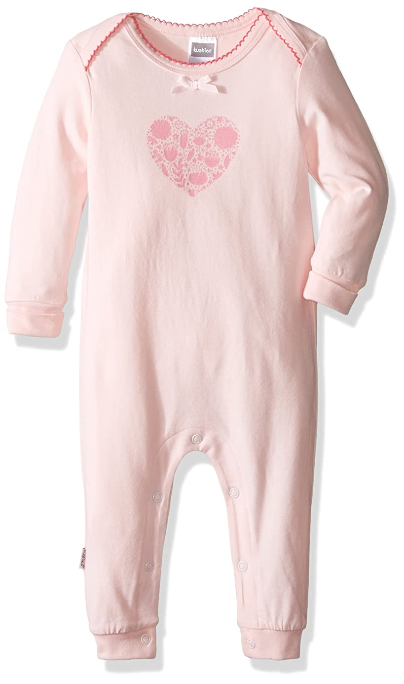 Kushies Baby Girls' Mix N Match Unionsuit Lt. Pink (Heart) juh4302762