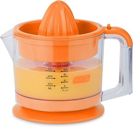 Dash Citrus Juicer Extractor: Compact Juicer for Healthy Juice, Oranges, Lemons, Limes, Grapefruit & other Citrus Fruit with Easy Pour Spout + 32 oz Pitcher - Orange