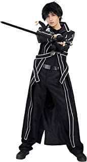 US Size Men's Kirito Cosplay Costume